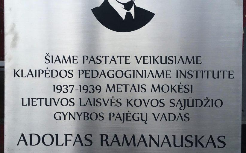Kodėl A. Ramanausko–Vanago atminimas Klaipėdoje bus įamžintas tik po rinkimų