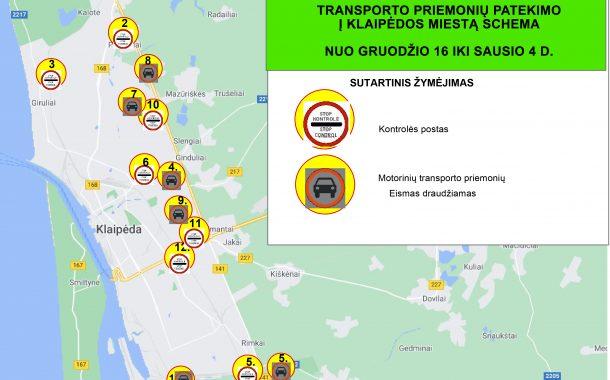 Klaipėdos prieigose įrengiami užtvarai